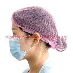 La Chine usine la vente en gros PP jetable avec des attaches Chirurgien Chef non tissées Médecin Infirmière Médicale PAC PAC charlottes