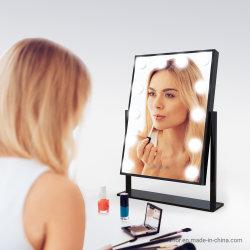 Controle de toque de estilo de Hollywood Espelho LED Cosméticos Espelho Bluetooth