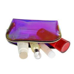 As mulheres Fashion TPU clara holográfico espelho saco cosméticos parte de férias de Viagem Organizador iridiscente à prova de PVC Bolsa de fecho de Higiene Pessoal