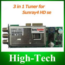 SunRay SR4 Triple Tuner - T-C-S(2S) 3 인치 Sunray4 HD Se SR4 800HD Se Satellite용 튜너 1개 수신기