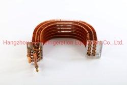 공장 가격 U자형 구리 튜브 구리 핀 유형 콘덴서 코일 열 교환기