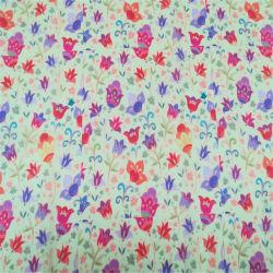 Geprinte Dames Flower Cotton Voile Stof