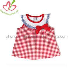 Logotipo personalizado lindo bebé de EE.UU. - Cuadros de algodón suave Falda Top
