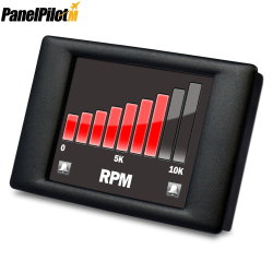 2,4 pouces à écran tactile voltmètre numérique compteur avec logiciel programmable de panneau