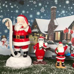 K601 크리스마스 아버지 수지 작은 조상 예술은 실내 옥외를 위한 산타클로스 훈장을 조각한다