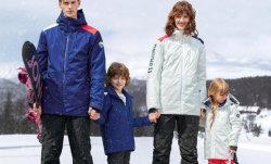 La familia de moda vestido con traje de esquí diseñada, chaquetas Chaqueta impermeable, el invierno, en el exterior de la Chaqueta Chaqueta, ropa deportiva para el esquí y actividades al aire libre