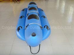 4-8 Pessoa desporto de aventura jogo Oceano Flutuante desporto de aventura jogo Toy banana boat inflável de cor azul