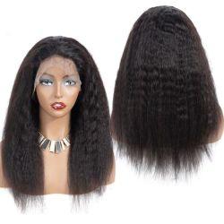 Kinky droit brésilien de cheveux en vrac Remy Human Lace Front perruques