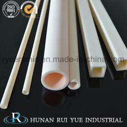 산업용 고온 불응성 99.7% Al2O3 알루미늄 세라믹 롤러 튜브 스톡의 전문 제조업체