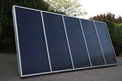 Gran área de fácil instalación recubrimiento selectivo de recopiladores de calefacción solar colectores solares de placa plana