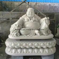 販売のための仏の白い大理石の天使の仏の石造りの笑う彫像
