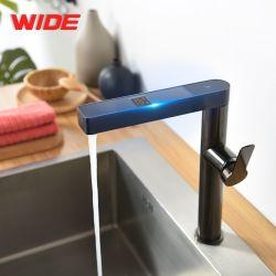المطبخ الحنفية الذكية الرقمية الساخنة الماء الباردة الساخنة المطبخ درجة الحرارة عرض