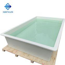 De fiberglas Versterkte Plastic Vijver van het Water van de Tank FRP van het Kweken van vis van het Aquarium Voor Aquicultuur, Zwembad GRP