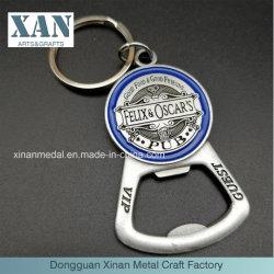 Apri di bottiglia su ordinazione del metallo di promozione di prezzi di fabbrica con Keychain