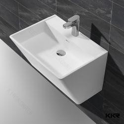 Salle de bains d'angle de la vanité du Cabinet de l'acrylique Surface solide bassin sanitaire Ventes en gros