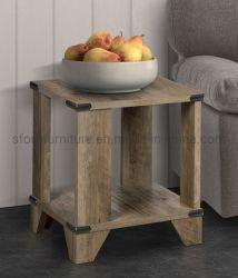 본사 가구 나무로 되는 시골풍 오크 색깔 작은 테이블 (1 세트 2 품목)