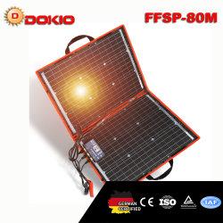 Dokio 18V 80W flexibler faltbarer MonoSonnenkollektor-im Freien beweglicher Sonnenkollektor für Travel&Boat&RV Qualitäts-Sonnenkollektor China