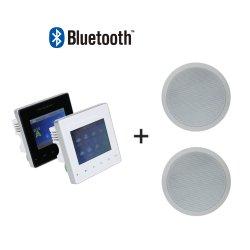 2 de PA Home Audio Music System Wall Mount Amplifier van Mini 25W Wireless van het kanaal met 2 PCs 6 '' Ceiling Speaker en Afstandsbediening Support Bluetooth/USB/TF Card enz.