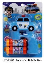 Coche de policía divertido juguete pistola de burbujas