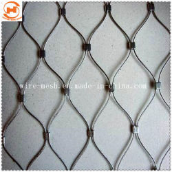X-tejidas a mano tender el cable de acero inoxidable/malla malla cuerda
