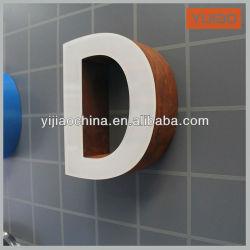 손질 모자 없는 금속 채널 편지 표시 LED 정면 Lit
