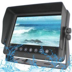 7pulg impermeable Ahd Vista trasera del coche de copia de seguridad LCD Monitor