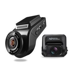 Super Night Vision double tiret avant et arrière de la came de condensateur 1080p voiture caméra de tableau de bord du GPS intégré