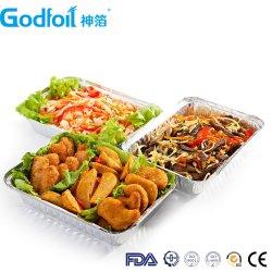 Metallrechteckiger Aluminiumfolie-Behälter für Gitter-Nahrung in China