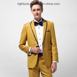 Colores de Moda de los hombres visten pantalones Chaleco Chaqueta Blazer de trajes de oficina y de partido y el desgaste diario