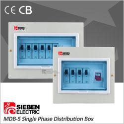 Plug-in tipo de Una Sola Fase 4 forma de caja de distribución de metal con la barra de cobre