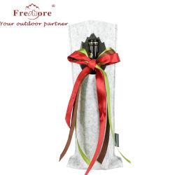 卸し売り単一のびんの赤ワインのフェルトの布のギフト袋