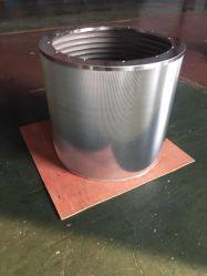 Cuña de 316l ranura para cable de la cesta de la pantalla de pantalla para que la presión en la línea Pulping en fábrica de papel