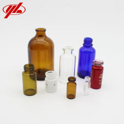 3ml 7ml 10ml 30ml 50ml 100ml Röhren- oder geformte Glasflaschen-Phiole für medizinisches oder kosmetisches