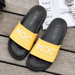 Novo design Inglês Moda chinelos macios de PVC Non-Slip PVC chinelos Calçados