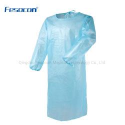 preço de fábrica médicos descartáveis/isolamento cirúrgico Beca adequados de protecção Lab Coat
