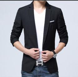 Breasted solo un botón, los hombres la ropa se adaptan a la mitad de las mangas traje
