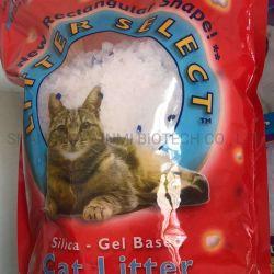 Enchimento de areia de sílica gel 3.8L Limpar 97%+3% Blue Crystal Cat Cama para Cat Toilet Seco