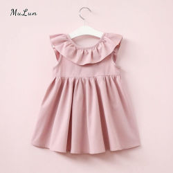 가을의 새로운 글리터 스타 보일 솔리드 니트 프린세스 프록 디자인 어린이 의류 아기 소녀 옷