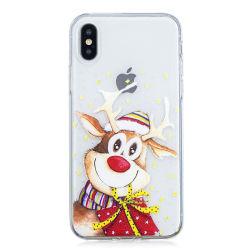 Árbol de Navidad líquido dinámica Glitter arenas movedizas teléfono caso para el iPhone 6S 6s 7 8 Más claro la tapa transparente para el iPhone 5 5s se