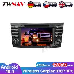 128 Go Carplay Android 10 l'écran pour le Benz Classe E W211 CLS W219 de la classe G W463 2001-2008 Navi GPS Auto Radio audio stéréo de l'unité de tête