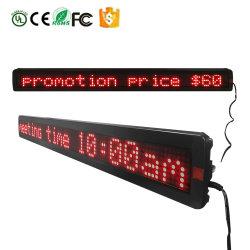 Hot Sale P7.62-7X120 Rg programmable une seule couleur unique panneau LED de ligne/ligne/signer/Affichage avec PC USB et la communication à distance