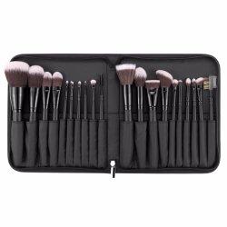 Hoogwaardige 20 STUKS synthetische borstel voor professioneel haar Makeup Brush set Met opvouwbare draagtas