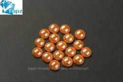 Heiße verkaufende verschiedene Farben-runde Form-heiße Verlegenheits-keramische halbe Perle Flatback Rhinestones (Pferdestärke-Reines Gelb)