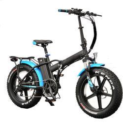 내구성 길이 AC 100-240V 전기 팻 타이어 접이식 전기 산 자전거 프론트 휠 드라이브 LED/LCD 디스플레이 E-Bike