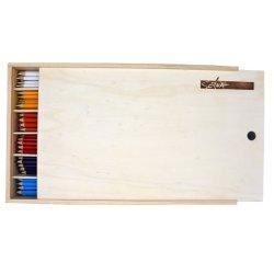 """Spitzen"""" Qualität7 sechseckiges Fsc-Holz 144 PCS im 12 Farben-Bleistift im grossen hölzernen Kasten"""