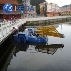 Mini Size Weed Cutting Dredger / Harvesting Boat Voor Export
