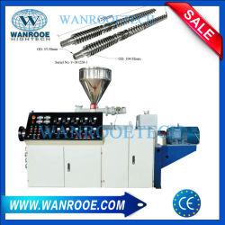 Laboratoire de double conique à double vis PVC/WPC/tuyau PVC/profile/granule/Masterbatch/feuille rendant le bouletage extrudeuse en plastique