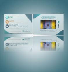 사용자 지정 4.3인치 디지털 비디오 인사말 카드 옵션 메모리(포함) USB 인터페이스