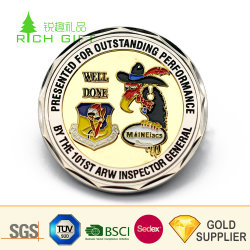 PVC Pouchとの卸し売り中国Custom Diamond Shaped Metal Gold Coating Promotion Coin