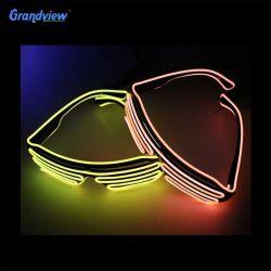 Горячая продажа моды светодиодные очки танцевальный фестиваль Рождество Хэллоуин световой неоновой Sutther очки в форме